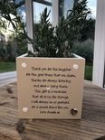 Personalised Shabby Chic Plant Pot Special Best Friend gift ANY NAMES Friends - 333291730711